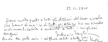 Firma autografa dott. Vittorio Veglia